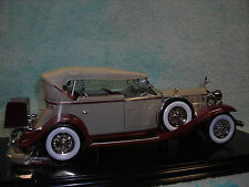 1/18 SCALE 1932 CADILLAC SPORTS PHAETON CABRIOLET IN MAROONTAN  BY ANSON.