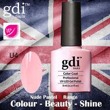 UK SELLER Gdi Nails NUDE Range U04 BABY LOVE UV/LED Gel Soak Off nail polish
