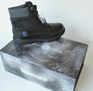 """Timberland WOMEN'S LIMITED EDITION 6"""" Inch Premium BLACK ICE Leather Boots A1Q84"""
