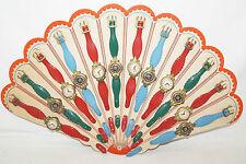 Kinder Uhren Spieluhren Armband Verkaufsdisplay 60/70iger Jahre 12 Uhren