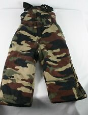 Walls Blizzard Pruf Camo Hunting Insulated Bib Size Youth XSmall 4/5 Overalls