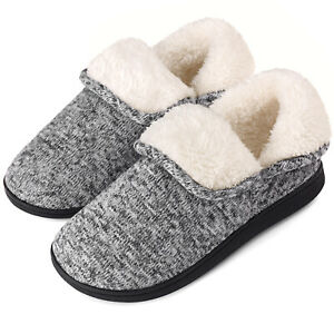 VONMAY Women's Fuzzy Bootie Slippers Memory Foam Ankle High Warm House Shoes