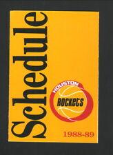 Houston Rockets--1988-89 Pocket Schedule--McDonald's