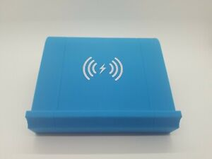 Nightstand Wireless Phone Charger and Bluetooth Speaker (Blue) WM-SWC-001