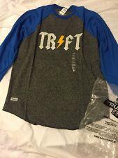 NEW Trukfit Lil Wayne TRFT Lightning Urban Apparel XL Raglan Blue Gray Skate