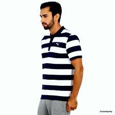 Puma Men's Polo Shirt - Golf - Casual - Size XL Blue/White stripes. MSRP $35.00