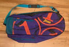 Vintage 80s Penn Longbody Tennis 2 Racquet Carry Case Bag Travel Shoulder Strap