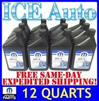 12 PACK MOPAR ATF+4 Automatic Transmission Fluid OEM JEEP DODGE CHRYSLER Quarts