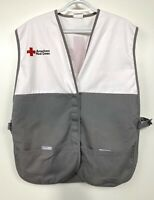 American Red Cross Disaster Relief Gray White Volunteer Vest One Size Adult L