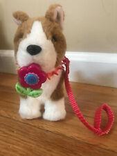 American Girl Corgi Puppy Dog w/ magnetic flower, collar, leash RETIRED BKB79