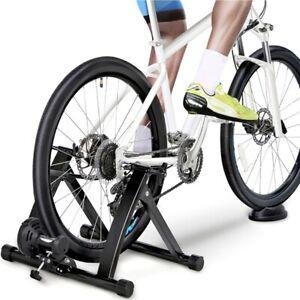 Magnetic Bike Trainer Stand Premium Steel Bike Bicycle Indoor Exercise Black