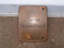JUNCTION TRAILING POINTS PLAQUE MIDLAND RAILWAY SIGNAL LEVER NAME VINTAGE