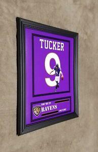 Baltimore Ravens Justin Tucker Framed 8x10 Jersey Photo