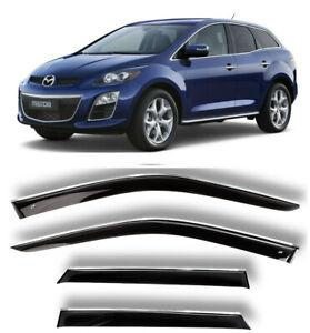 Chrome Trim Side Window Visors Guard Vent Deflectors For Mazda CX-7 2006-2012