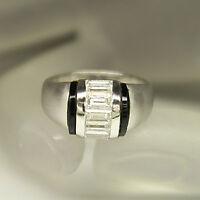 Ring mit ca. 1,50ct Diamant Baguette-Schliff TW-if lupenrein PT950 Platin