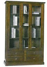 Vetrina  ante vetro e cassetti ,legno massello, arte povera, mobile ufficio