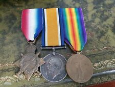 Scarce WW1 1915 Star Trio to Musician in Royal Military Band