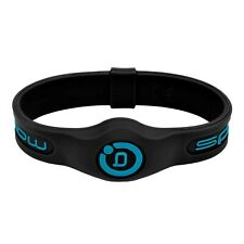 Bioflow Sport Silicone Magnetic Therapy Wristband - Black/Neon Blue - NEW!