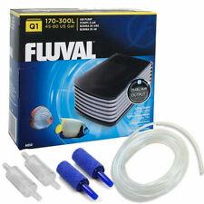 Fluval Q.1 Aquarium Fish Tank Air Pump Dual Outlet Free Kit Tanks up to 300L