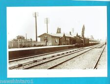 #T50.  MODERN  PHOTOGRAPH  OF  EARLY MOLONG RAILWAY STATION WITH TRAIN