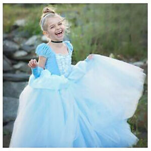 UK Kids Girls Cinderella Fancy Dress Princess Party Cosplay Outfit Costume GIFT