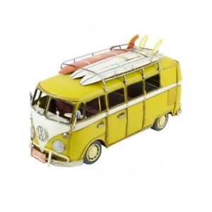 Volkswagen Kombi Van with 3 Surfboards Ornament Vintage Gift For Home - Yellow