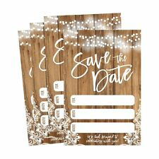 50 Rustic Save The Date Cards For Wedding Engagement Anniversary Baby Shower ...
