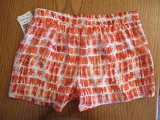 Macy's Juniors XXS Womens Rewind Orange White Shorts Size XXS Lined NEW