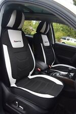Custom Seat Covers Full Set Black&White,Leather+Cooling Mesh Audi Q5 2009-2017