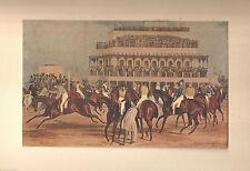 1927 Art Print Liverpool Grand Steeple Race By J. Harris Produced by Studio Art