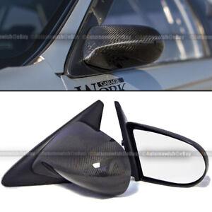 For Honda 88-91 CRX Pair Carbon Fiber Manual Adjustable Spoon Style Side Mirror