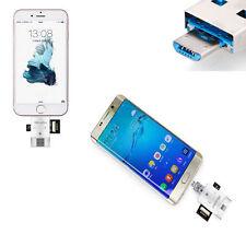 TF SD Lettore Di Schede Chiavetta Galaxy s7 s6 s5 iPhone 6 5 lettore di schede OTG MICRO USB