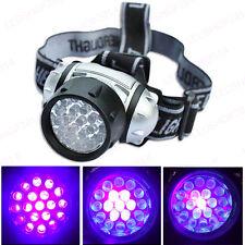 19 LED Blacklight UV Headlamp Counterfeit Money Scorpion Hunting UV Head Lights