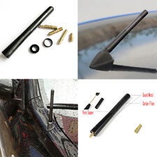 1pc TRD Short Carbon Fiber Style Antenna 4.7 inch For Toyota Lexus Scion Black