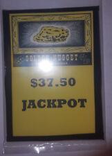 REPLACMENT MILLS/ GOLDEN NUGGET GUARANTEED $37.50 JACKPOT GLASS SLOT MACHINE
