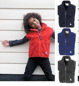 Kids Boys Girls Chils RED BLUE GREY Sleeveless Fleece Gilet Bodywarmer Waistcoat