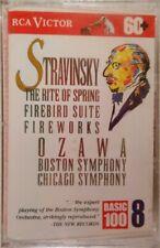 SEALED Stravinsky: Rite Of Spring, Firebird, Fireworks - Ozawa (1993 Cassette)