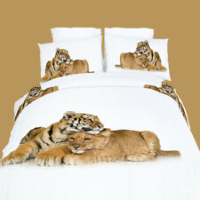 Twin 4 Piece Bedding Set Cute Animal Theme 100% Cotton Duvet Cover Set DM483T