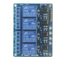 12V 4-Channel Relay Module With Optocoupler High Level Triger For Arduino US