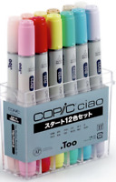 Too Copic Ciao start 12 color set from Japan Manga Anime Comic  illustration NEW