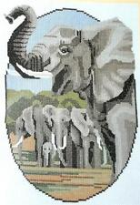 ELEPHANT FAMILY Africa Counted Cross Stitch Pattern