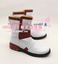 Anime Sword Art Online Kirito Cosplay Shoes White/Red Boots S008