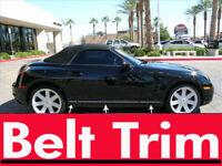 Chrysler CROSSFIRE CHROME SIDE BELT TRIM DOOR MOLDING 04 05 06 07 08