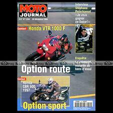 MOTO JOURNAL N°1259 CASTERA VTR 1000 F FIRESTORM HONDA CBR 600  PETERHANSEL 1996