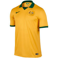 Nike Australia World Cup Wc 2014 Home Soccer Jersey Brand New Yellow - Green