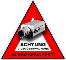 Aufkleber Warnaufkleber Kamera / Video Überwachung 5 stück Set