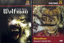 THE REAL WOLFMAN + BLOODLINES: DRACULA'S FAMILY TREE - DVD COMBO ** New  **