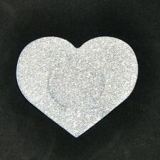 50 pairs Silver glitter Heart Breast Nipple Cover Pasties disposable