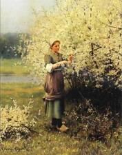 Ladies Spring Blossoms by Daniel Ridgeway Knight