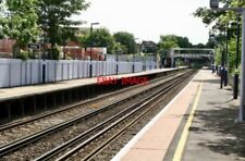 PHOTO  2010 WEST WICKHAM RAILWAY STATION THE LONG PLATFORMS VIEWED FROM THE UP E
